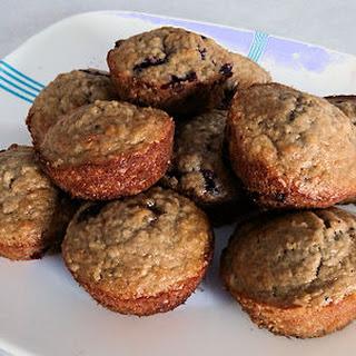 Oatmeal Haskap (Blueberry) Muffins.