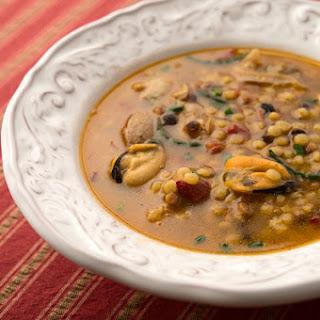 Sardinian Shellfish Soup with Fregula