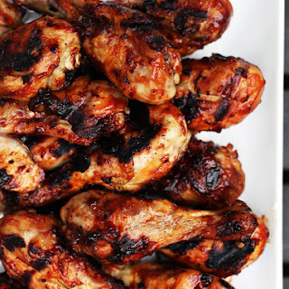 Grilled Barbecued Chicken Legs.