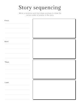 Story Sequencing - Worksheet item
