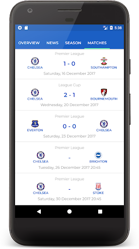 CFCN -  The Ultimate Chelsea Fan App 1.3 screenshots 4