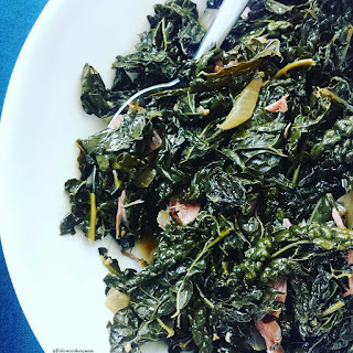 Crock-Pot Kale Greens with Smoked Turkey.