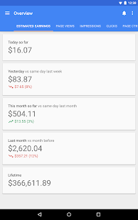 Google AdSense Screenshot
