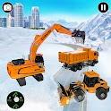 Snow Road Crane Excavator Simulator icon
