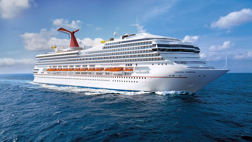 carnival-sunrise-at-sea.jpg - The 3,002-passenger Carnival Sunrise is an action-packed vessel offering warm-weather getaways to some of the Caribbean's most enticing ports.