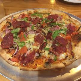 Choritzo Pizza by Dawn Simpson - Food & Drink Plated Food ( pizza, choritzo, choritzo pizza, italian, delicious, dinner )
