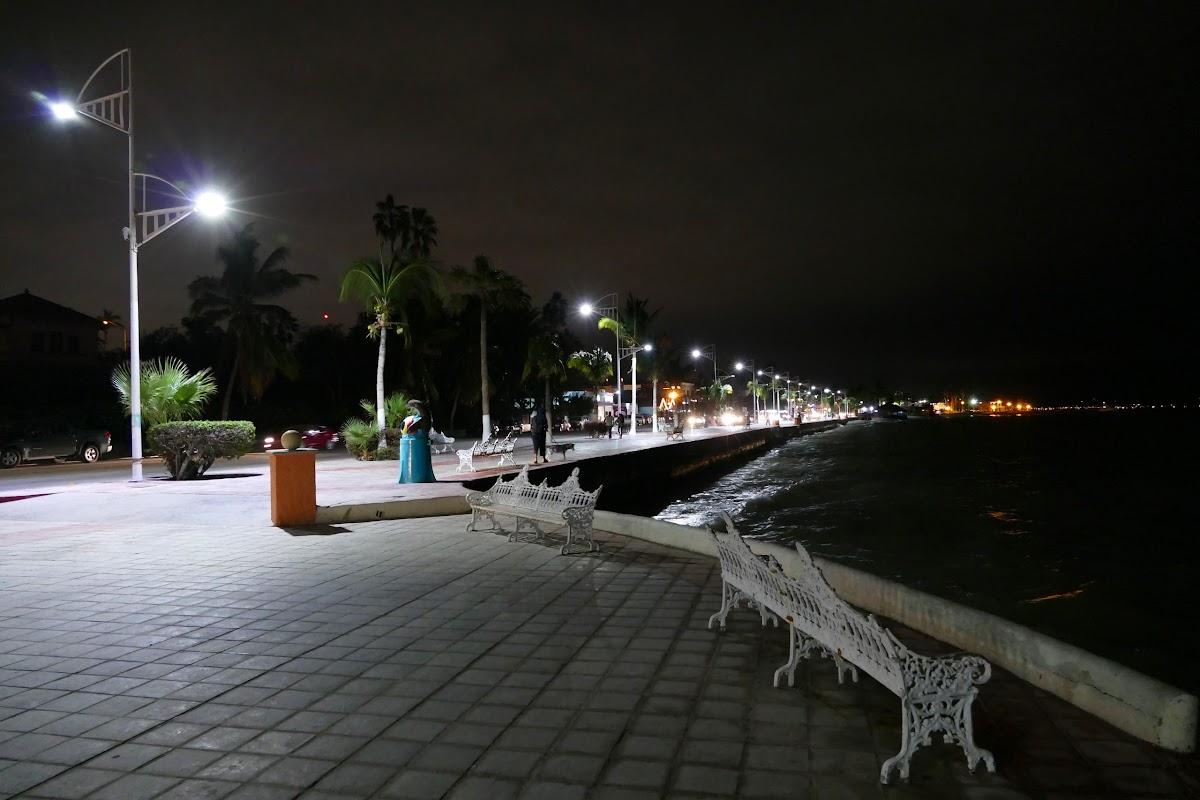Malecon at night