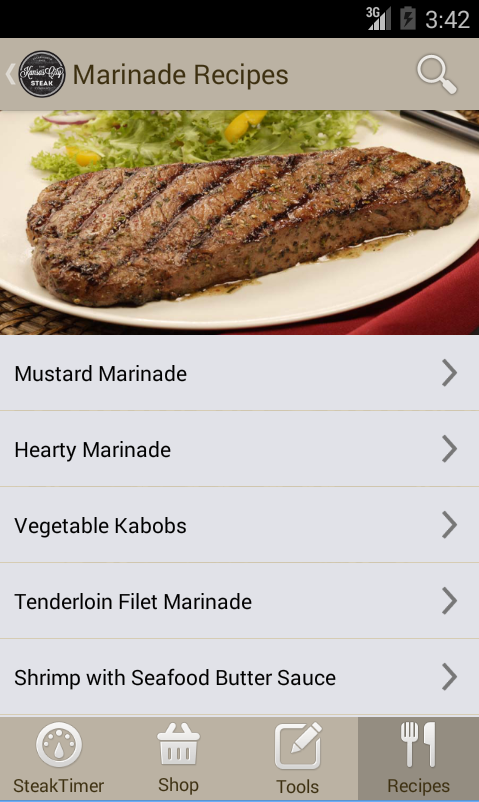 Steak Timer & Recipes - Free- screenshot
