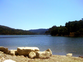 Photo: Resting at a beautiful lake. There was a father and his sons fishing at the side. After this, we headed straight into the mountains.