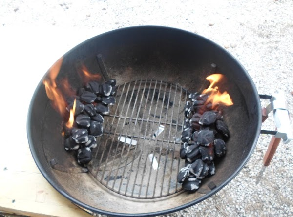 Get the grill ready for indirect heat. Place 25 to 30 briquet on each...