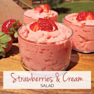 Strawberries and Cream Salad.