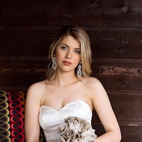 by Sabrina Causey - Wedding Bride ( wedding, woman, white, wedding dress, bride, portrait,  )