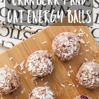 Cranberry And Oat Energy Balls.