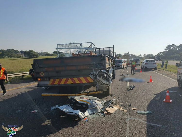 Four dead in truck, taxi accident on KZN highway