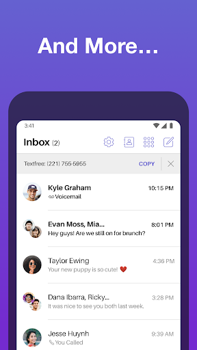 Text Free: Free Text Plus Call 8.57 screenshots 5