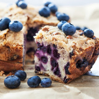 Blueberry Oatmeal Breakfast Cake.