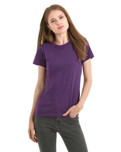 B&C Exact 190 Crew Neck T-shirts Women's (Purple)
