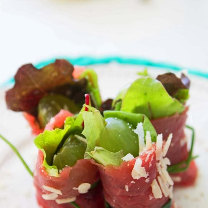 Beef Carpaccio with Grapes
