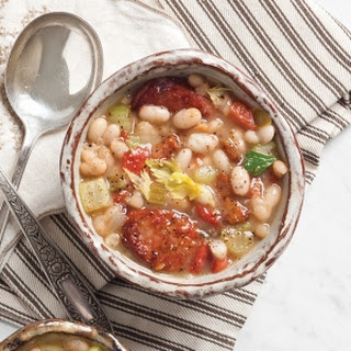 Hearty White Bean and Sausage Soup.