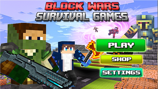 Télécharger Gratuit Block Wars Survival Games  APK MOD (Astuce) screenshots 1