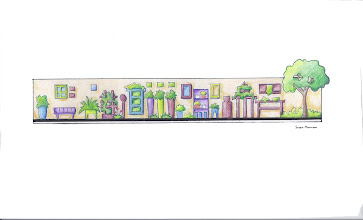 Photo: Illustrative plan of Amy Stewart's cocktail garden.  Garden design and illustration by Susan Morrison of Creative Exteriors Landscape Design.  http://www.celandscapedesign.com/index.html