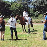 Krystal Kelly attending her FEI level one coaching course in lusaka zambia