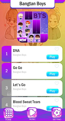 BTS Chibi Piano Tiles 2.2 screenshots 1