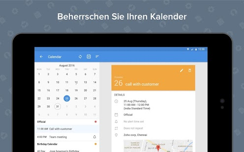 Zoho Mail - Email and Calendar Screenshot