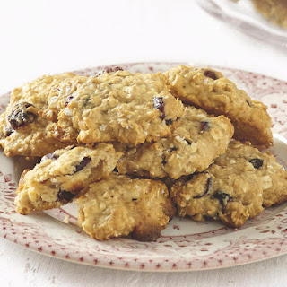 Oat, Cranberry and White Chocolate Chip Cookies.