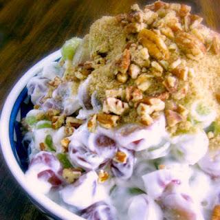 Creamy Brown Sugar Grape Salad Recipe
