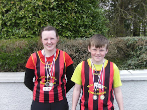 Photo: Ciara & Sean Mockler, Shot Putt & Discus winners at Crookstown Millview Sports 2012