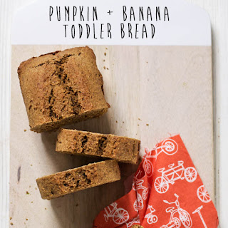 Pumpkin + Banana Toddler Bread