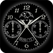 Analog Chronograph Watch Face