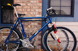 Photo: my first custom frame was a lot bigger than the bike it replaced.