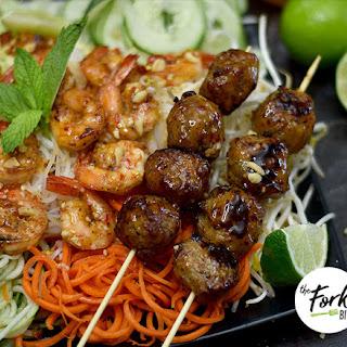 Vietnamese Cold Noodle Salad with Shrimp.