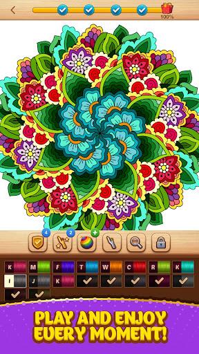 Cross Stitch Coloring Mandala screenshot 5