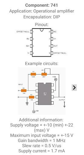 Electronic Component Pinouts Free 12.0 screenshots 6