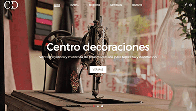 Sitio web Centro Decoraciones