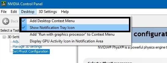 nvidia control panel desktop