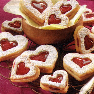 German Heart Shaped Valentines Day Cookies.
