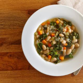 Low Calorie White Bean Kale Soup.