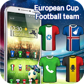 European Cup football theme 3D