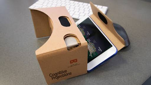 Google Cardboard with a Google Pixel phone running the Cell 101 VR app
