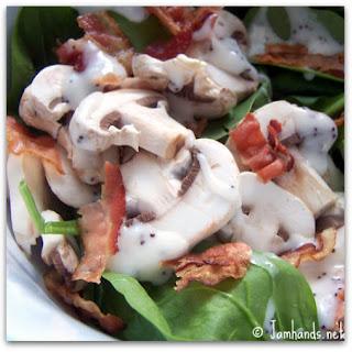 Sweet & Savory Spinach Salad