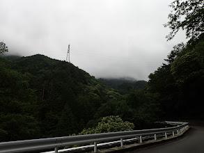 有明山は雲の中