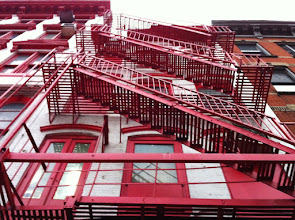 Photo: Red Stairs @ Canal St