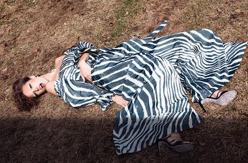 Fashion editorial featuring looks from Adeam, Mikimoto and Rene Caovilla.