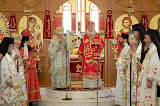 Photo: Обръщение към паството на Орейския еп. Киприян след края на литургията.