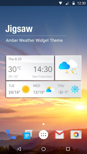 3 Day Weather Clock Widget