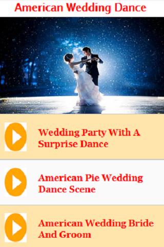 American Wedding Dance Songs And Music Screenshot